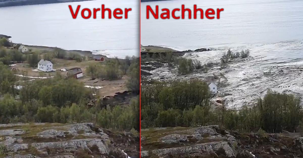 Erdrutsch Alta Norwegen