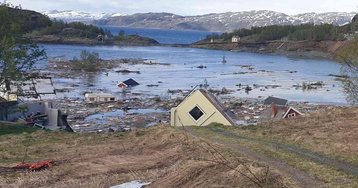 Alta Norwegen Erdrutsch